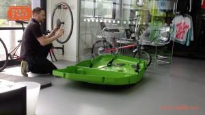 bike box - wheel spacer