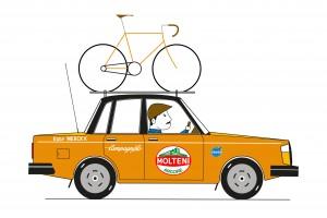 Cycling Design art vintage team car