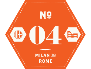 Milan to Rome Ride25 badge