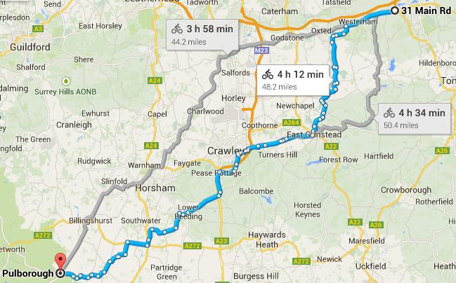 Sevenoaks to Pulborough