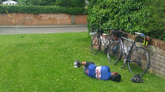 Sleepy cyclist