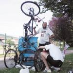 Rickshaw maintenance!