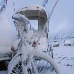 Snow on the rickshaw