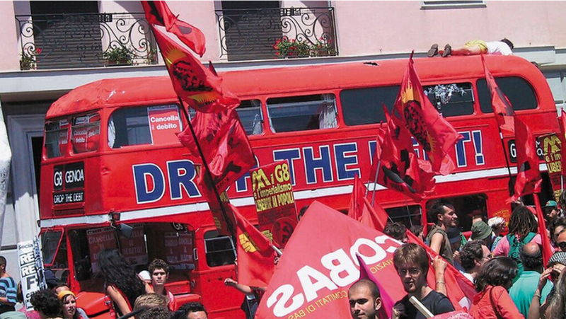 The protest bus