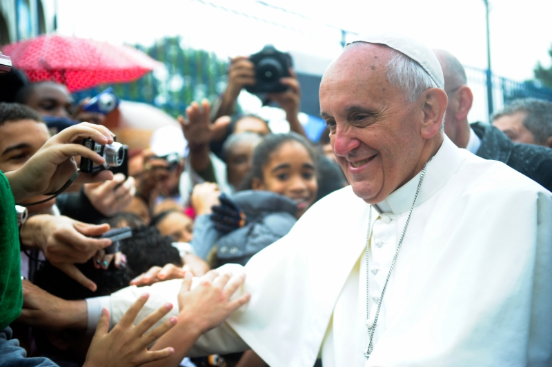 Pope Francis handshake