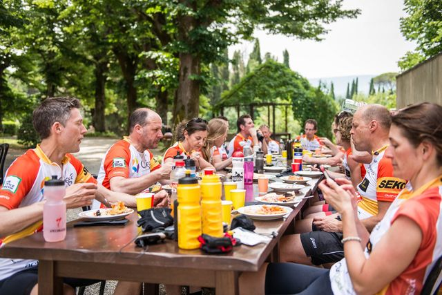 Lunch on the ride