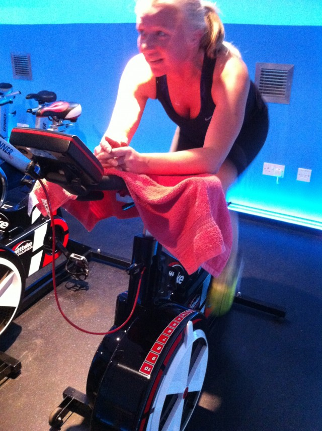 girl on watt bike