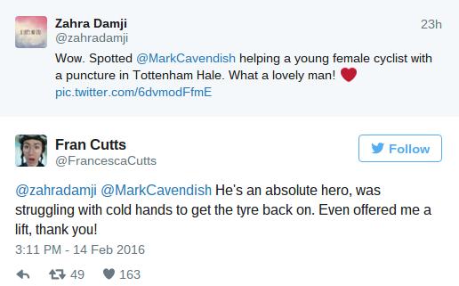 Cavendish twitter