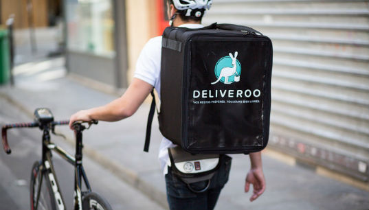 Deliveroo cyclist